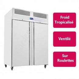 Armoire réfrigérée Inox 2 portes - Froid positif - Version compacte