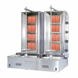 Double machine à kebab 2 x 4 feux gaz GURDEN