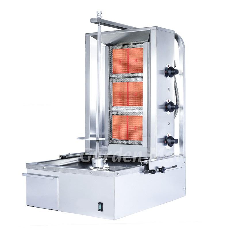 Machine à kebab 3 feux bruleurs gaz GURDEN