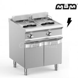 Friteuse électrique MBM 2 x 12 Litres sur meuble - FRBE77A