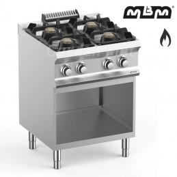 Plan de cuisson sur meuble MBM 4 feux vifs (28kw) Gaz - FB77AXL