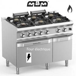 Fourneau MBM 6 feux vifs (33 kw) sur four électrique - FB711AFEXS