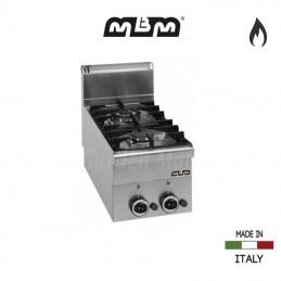 Cuisinière MBM 2 feux vifs Gaz (5,85 Kw) - G2S6