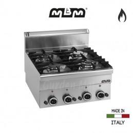 Cuisinière MBM 4 feux vifs Gaz (11,7 Kw) - G4S6