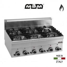 Cuisinière MBM 6 feux vifs Gaz (17,55 Kw) - G6S6
