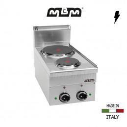 Cuisinière MBM 2 plaques électriques (4,1 Kw) - E26